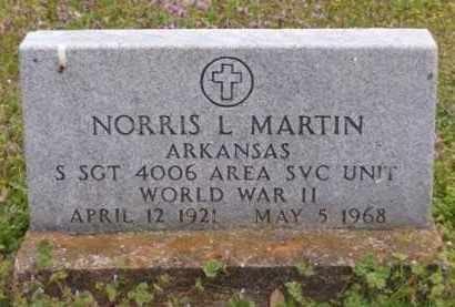 MARTIN (VETERAN WWII), NORRIS L - Baxter County, Arkansas | NORRIS L MARTIN (VETERAN WWII) - Arkansas Gravestone Photos