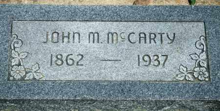 MCCARTY, JOHN M - Baxter County, Arkansas | JOHN M MCCARTY - Arkansas Gravestone Photos