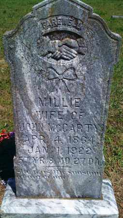 MCCARTY, MILLIE - Baxter County, Arkansas | MILLIE MCCARTY - Arkansas Gravestone Photos
