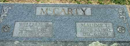 MCCARTY, WILLIAM J - Baxter County, Arkansas | WILLIAM J MCCARTY - Arkansas Gravestone Photos