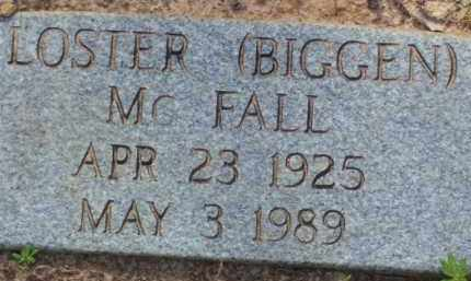 "MCFALL, LOSTER ""BIGGEN"" - Baxter County, Arkansas 