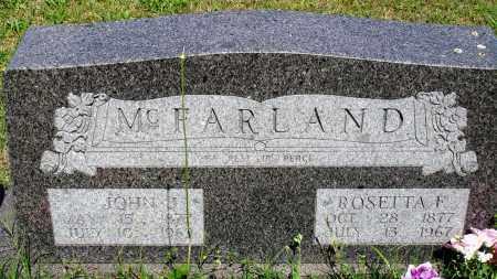 MCFARLAND, JOHN J - Baxter County, Arkansas | JOHN J MCFARLAND - Arkansas Gravestone Photos
