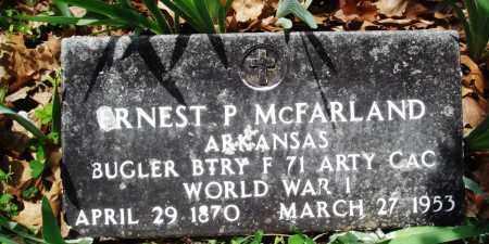 MCFARLAND (VETERAN WWI), ERNEST P - Baxter County, Arkansas | ERNEST P MCFARLAND (VETERAN WWI) - Arkansas Gravestone Photos