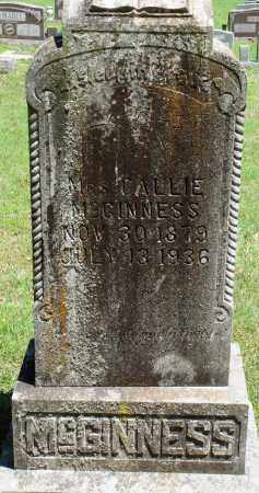 MCGINNESS, CALLIE - Baxter County, Arkansas | CALLIE MCGINNESS - Arkansas Gravestone Photos