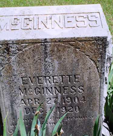 MCGINNESS, EVERETTE - Baxter County, Arkansas | EVERETTE MCGINNESS - Arkansas Gravestone Photos