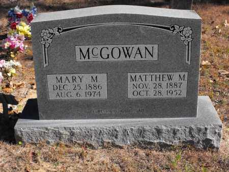 MCGOWAN, MARY M. - Baxter County, Arkansas | MARY M. MCGOWAN - Arkansas Gravestone Photos