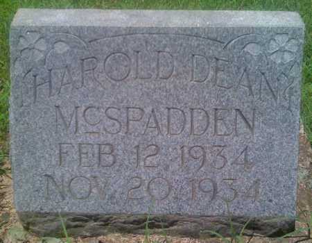 MCSPADDEN, HAROLD DEAN - Baxter County, Arkansas | HAROLD DEAN MCSPADDEN - Arkansas Gravestone Photos