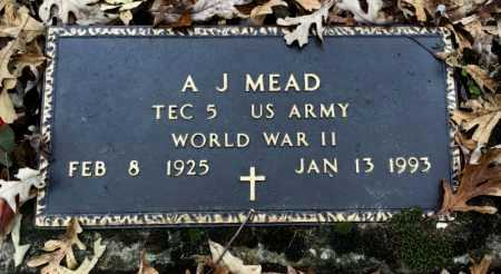 MEAD (VETERAN WWII), A. J. - Baxter County, Arkansas | A. J. MEAD (VETERAN WWII) - Arkansas Gravestone Photos