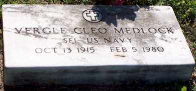 MEDLOCK  (VETERAN), VERGLE CLEO - Baxter County, Arkansas | VERGLE CLEO MEDLOCK  (VETERAN) - Arkansas Gravestone Photos