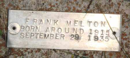 MELTON, FRANK - Baxter County, Arkansas | FRANK MELTON - Arkansas Gravestone Photos