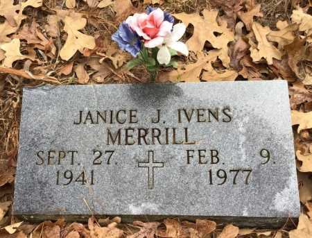 IVENS MERRILL, JANICE JOAN - Baxter County, Arkansas | JANICE JOAN IVENS MERRILL - Arkansas Gravestone Photos