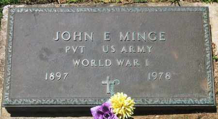 MINGE (VETERAN WWI), JOHN E - Baxter County, Arkansas | JOHN E MINGE (VETERAN WWI) - Arkansas Gravestone Photos