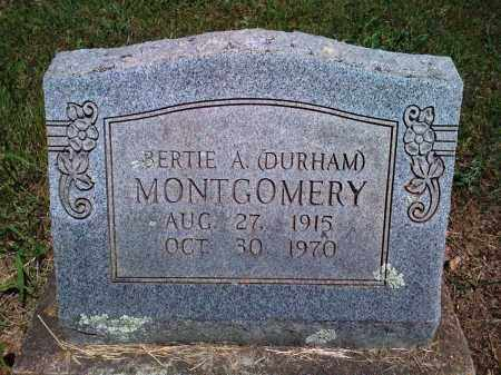 MONTGOMERY, BERTIE A - Baxter County, Arkansas | BERTIE A MONTGOMERY - Arkansas Gravestone Photos