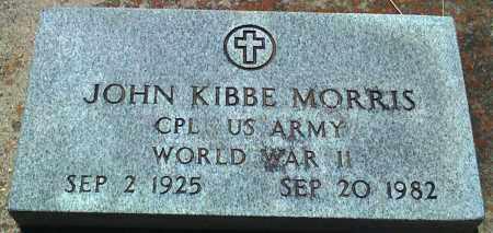 MORRIS (VETERAN WWII), JOHN KIBBE - Baxter County, Arkansas | JOHN KIBBE MORRIS (VETERAN WWII) - Arkansas Gravestone Photos