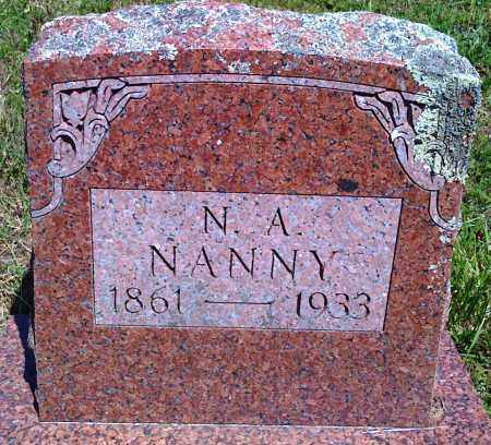 NANNY, N A - Baxter County, Arkansas | N A NANNY - Arkansas Gravestone Photos