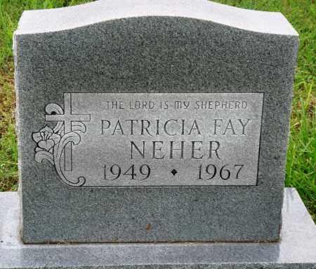 NEHER, PATRICIA FAY - Baxter County, Arkansas | PATRICIA FAY NEHER - Arkansas Gravestone Photos