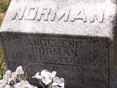 NORMAN, ANGELENE - Baxter County, Arkansas | ANGELENE NORMAN - Arkansas Gravestone Photos
