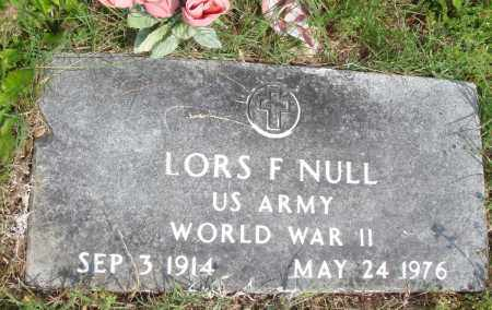 NULL (VETERAN WWII), LORS F - Baxter County, Arkansas | LORS F NULL (VETERAN WWII) - Arkansas Gravestone Photos