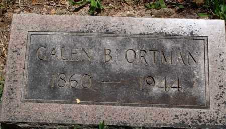 ORTMAN, GALEN B. - Baxter County, Arkansas | GALEN B. ORTMAN - Arkansas Gravestone Photos
