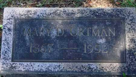ORTMAN, MARY D. - Baxter County, Arkansas | MARY D. ORTMAN - Arkansas Gravestone Photos