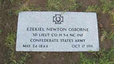 OSBORNE (VETERAN CSA), EZEKIEL NEWTON (OBIT) - Baxter County, Arkansas | EZEKIEL NEWTON (OBIT) OSBORNE (VETERAN CSA) - Arkansas Gravestone Photos