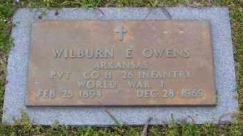 OWENS (VETERAN WWI), WILBURN E - Baxter County, Arkansas | WILBURN E OWENS (VETERAN WWI) - Arkansas Gravestone Photos