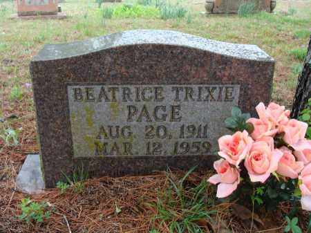 "PAGE, BEATRICE ""TRIXIE"" - Baxter County, Arkansas 