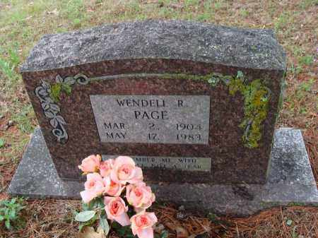 PAGE, WENDELL R. - Baxter County, Arkansas | WENDELL R. PAGE - Arkansas Gravestone Photos