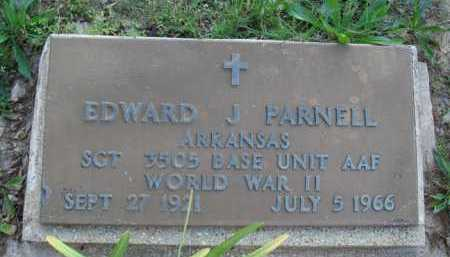 PARNELL  (VETERAN WWII), EDWARD J. - Baxter County, Arkansas | EDWARD J. PARNELL  (VETERAN WWII) - Arkansas Gravestone Photos