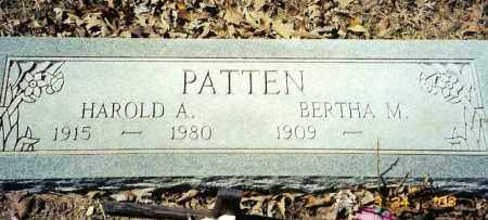 PATTEN, HAROLD A. - Baxter County, Arkansas | HAROLD A. PATTEN - Arkansas Gravestone Photos