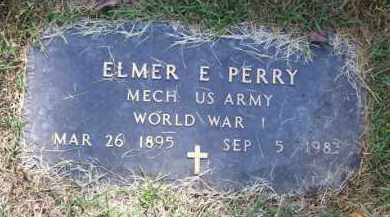PERRY (VETERAN WWI), ELMER E - Baxter County, Arkansas | ELMER E PERRY (VETERAN WWI) - Arkansas Gravestone Photos