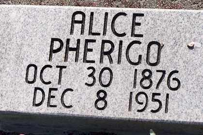 PHERIGO, ALICE - Baxter County, Arkansas | ALICE PHERIGO - Arkansas Gravestone Photos