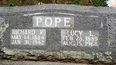 POPE, LUCY L - Baxter County, Arkansas | LUCY L POPE - Arkansas Gravestone Photos