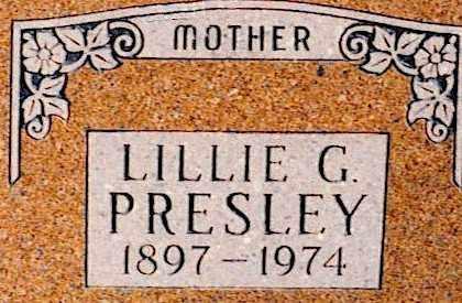 WEBBER PRESLEY, LILLIE GERTRUDE - Baxter County, Arkansas | LILLIE GERTRUDE WEBBER PRESLEY - Arkansas Gravestone Photos
