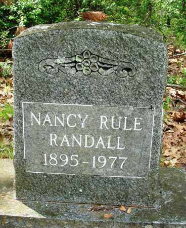 RULE RANDALL, NANCY - Baxter County, Arkansas | NANCY RULE RANDALL - Arkansas Gravestone Photos