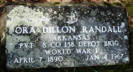 RANDALL (VETERAN WWI), ORA DILLON - Baxter County, Arkansas | ORA DILLON RANDALL (VETERAN WWI) - Arkansas Gravestone Photos