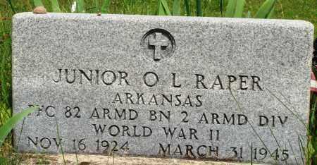RAPER (VETERAN WWII), JUNIOR O L - Baxter County, Arkansas | JUNIOR O L RAPER (VETERAN WWII) - Arkansas Gravestone Photos