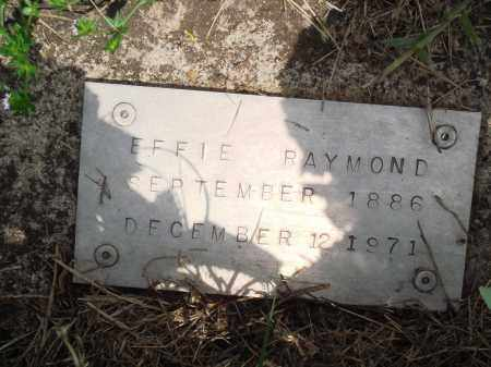 RAYMOND, EFFIE - Baxter County, Arkansas | EFFIE RAYMOND - Arkansas Gravestone Photos