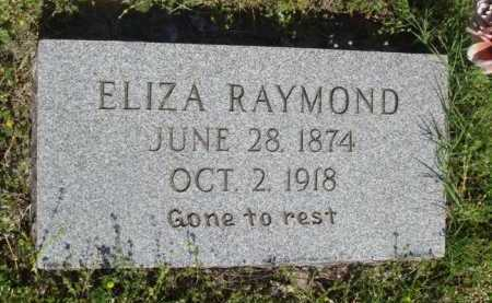RAYMOND, ELIZA - Baxter County, Arkansas | ELIZA RAYMOND - Arkansas Gravestone Photos