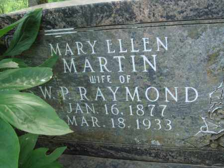 MARTIN RAYMOND, MARY ELLEN - Baxter County, Arkansas | MARY ELLEN MARTIN RAYMOND - Arkansas Gravestone Photos