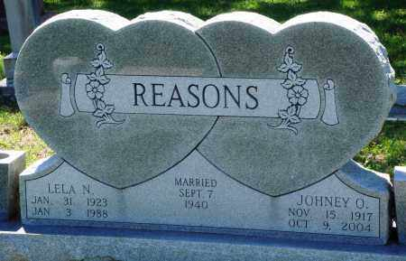 REASONS, JOHNEY O - Baxter County, Arkansas | JOHNEY O REASONS - Arkansas Gravestone Photos