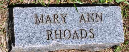RHOADS, MARY ANN - Baxter County, Arkansas | MARY ANN RHOADS - Arkansas Gravestone Photos