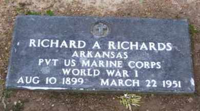 RICHARDS (VETERAN WWI), RICHARD ALBERT - Baxter County, Arkansas | RICHARD ALBERT RICHARDS (VETERAN WWI) - Arkansas Gravestone Photos