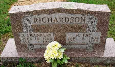 RICHARDSON, J FRANKLIN - Baxter County, Arkansas | J FRANKLIN RICHARDSON - Arkansas Gravestone Photos