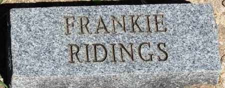 RIDINGS, FRANKIE - Baxter County, Arkansas | FRANKIE RIDINGS - Arkansas Gravestone Photos