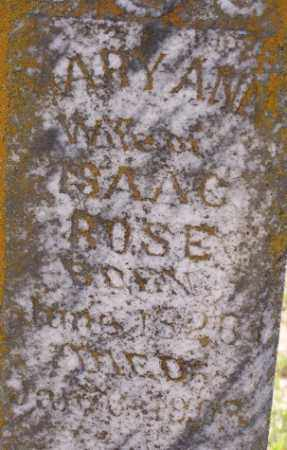 BECKHAM ROSE, MARY ANN - Baxter County, Arkansas | MARY ANN BECKHAM ROSE - Arkansas Gravestone Photos