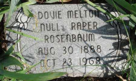 MELTON ROSENBAUM, DOVIE - Baxter County, Arkansas | DOVIE MELTON ROSENBAUM - Arkansas Gravestone Photos