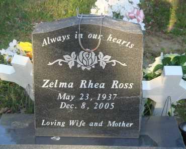 ROSS, ZELMA RHEA - Baxter County, Arkansas | ZELMA RHEA ROSS - Arkansas Gravestone Photos