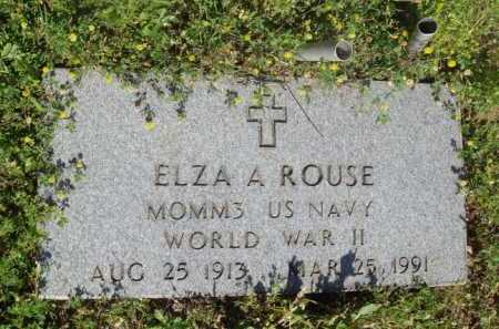 ROUSE  (VETERAN WWII), ELZA A. - Baxter County, Arkansas | ELZA A. ROUSE  (VETERAN WWII) - Arkansas Gravestone Photos