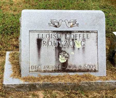 ROUTZONG COFFEE, ELOISE - Baxter County, Arkansas | ELOISE ROUTZONG COFFEE - Arkansas Gravestone Photos